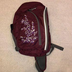 Eddie Bauer purple sling backpack floral hiking